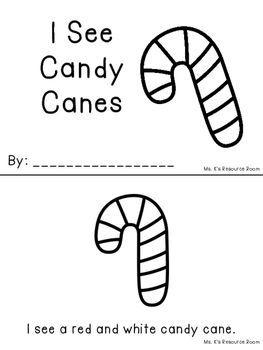 Candy Cane Mini Book Emergent Reader FREEBIE