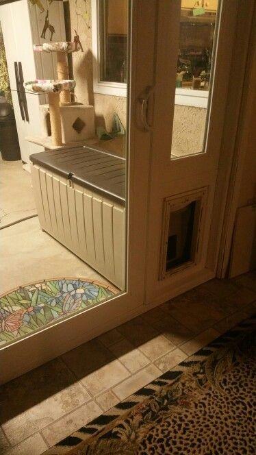 Indoor outdoor litter box