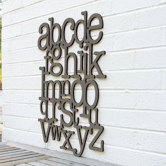 Alfabet hout teken Abc teken A tot Z teken brieven