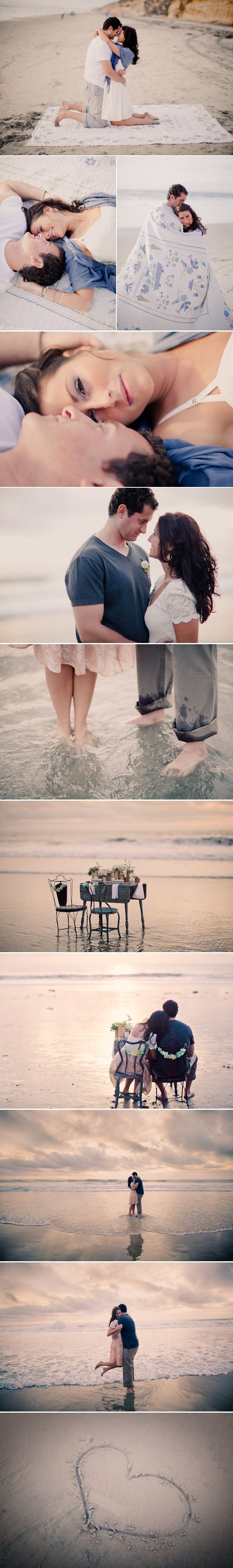 ST | cozy beach engagement