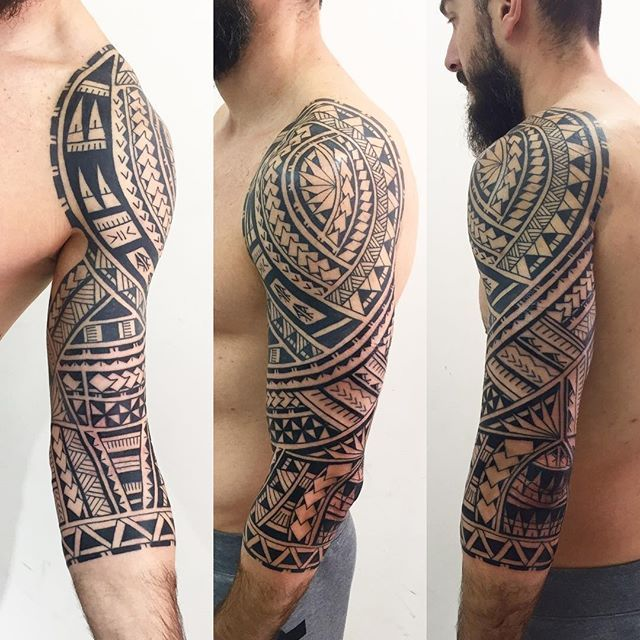 17 best ideas about tribal sleeve tattoos on pinterest tribal sleeve maori tattoo arm and. Black Bedroom Furniture Sets. Home Design Ideas