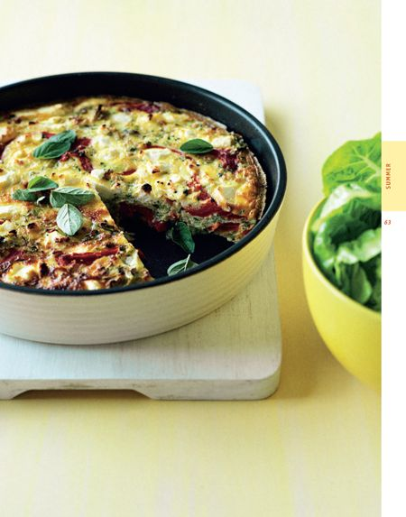 Zucchini Red Capsicum And Fetta Frittata: The $120 Food Challenge