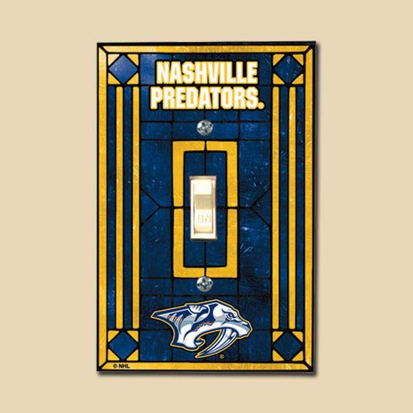 Nashville Predators Art Glass Switch Cover - $12.99