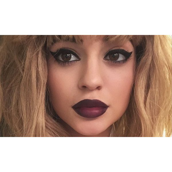 All the Times the Kardashians Pretended Kylie's Big Fake Lips Were... ❤ liked on Polyvore featuring beauty products, lips and makeup