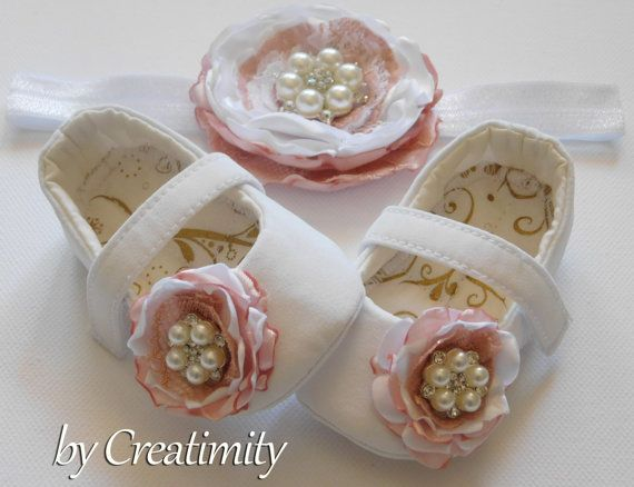 Flower girl shoes white baby shoes christening shoes baby