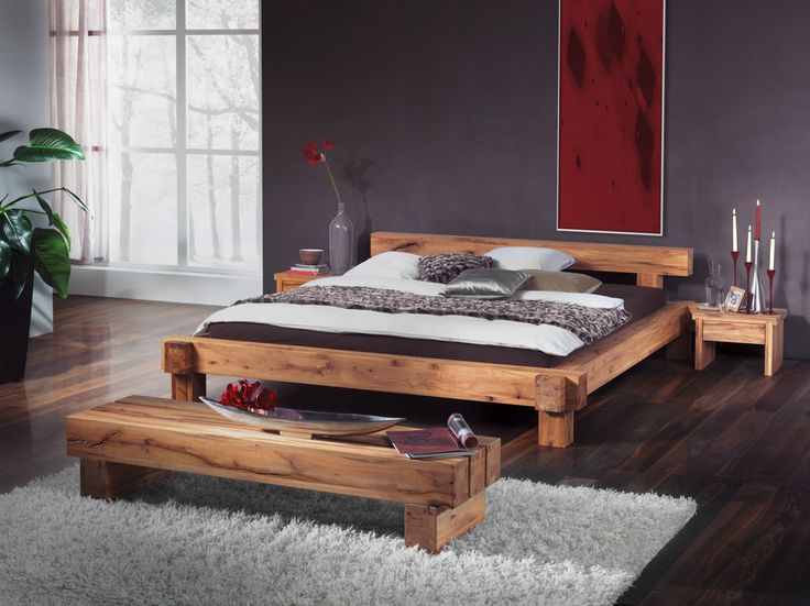 Balkenbett bauanleitung  balkenbett - Google Search | Furniture | Pinterest | Bett, Bett ...