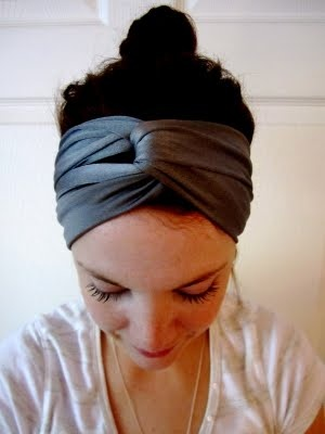 So stylish! A turban headband with a high bun. Find beautiful hair accessories on Beauty.com.