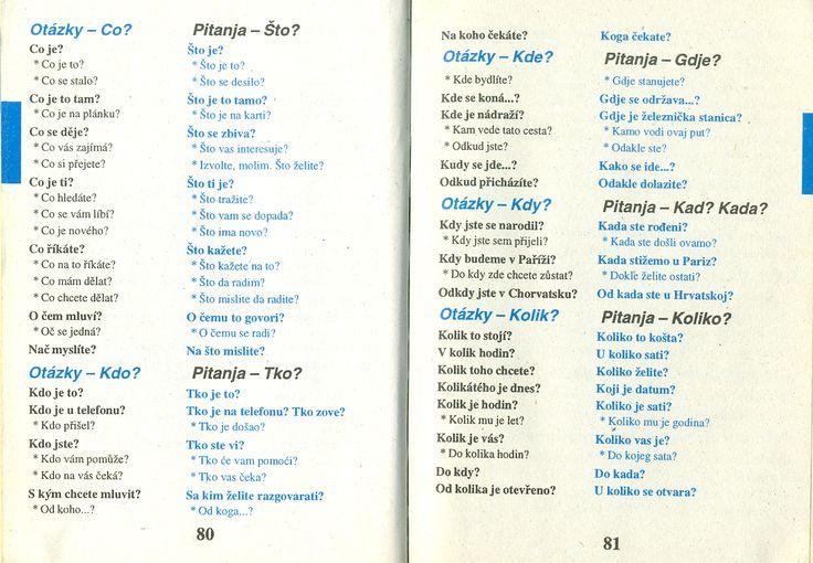 Chorvatština - studijní materiály, konverzace.