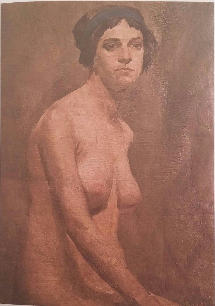 M. Ruhi (Arel): Çıplak,(Paris). Tuval uzerine yagliboya. 78×55 cm. Ozel koleksiyon