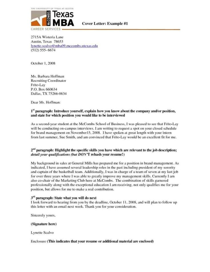 Cover Letter Template Mccombs Resume Examples Cover Letter Template Cover Letter Lettering