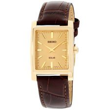 Seiko Core Gold Dial Leather Strap Men's Watch SUP896 Now: $95.99.