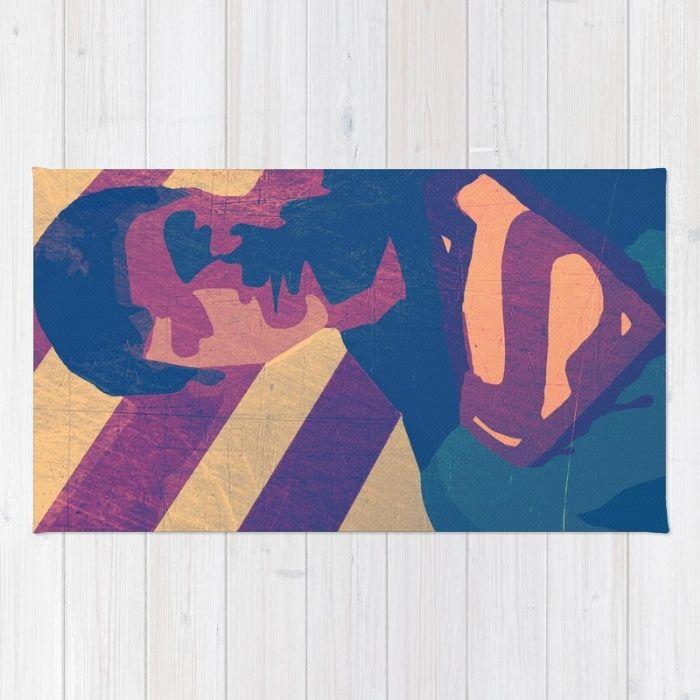 Retro Superman Rug by Scar Design | Society6 #rug #comicsrug supermanrug #kidsroom #supermanposter #homedecor #geekposter #nerdposter #comic #comicposter #movieposter #movie #cinema #tshirt #t-shirt #prinallover #retro #kidsposter #nerd #geek #superhero #hero #superheroposter #poster #artprint #gifts #kidsgifts
