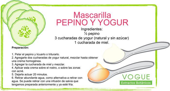 Mascarilla de Pepino y Yogurt VOGUE Extractos Botánicos
