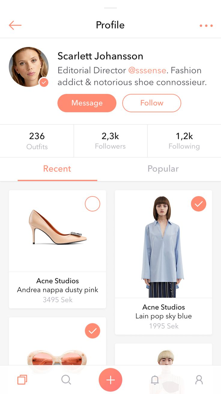 Shopping profile full
