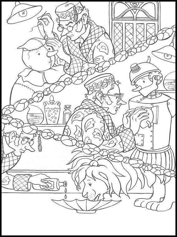 The Wizard Of Oz Printable Coloring Book 20 Cool Coloring Pages Coloring Books Printable Coloring Book