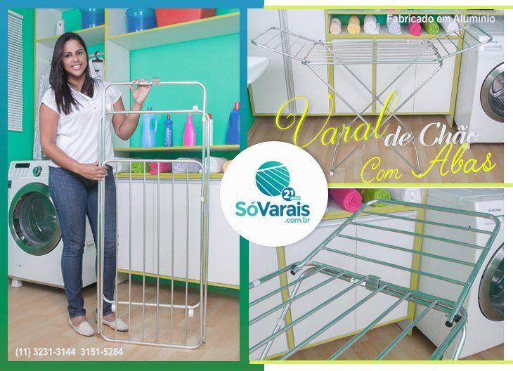 Varal de Chão com Abas  Fácil manuseio para secar as roupas, cabe em qualquer lugar.  http://sovarais.com.br   #varal #casa #decorar #OFERTAS
