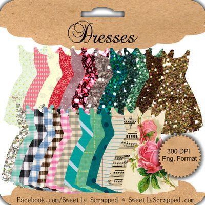 Free Printable Dresses.......... http://sweetlyscrappedart.blogspot.com/2012/01/freebie-printable-dresses.html#axzz1htshPBlz