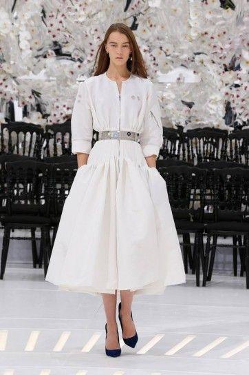 Dress coat bianco Dior