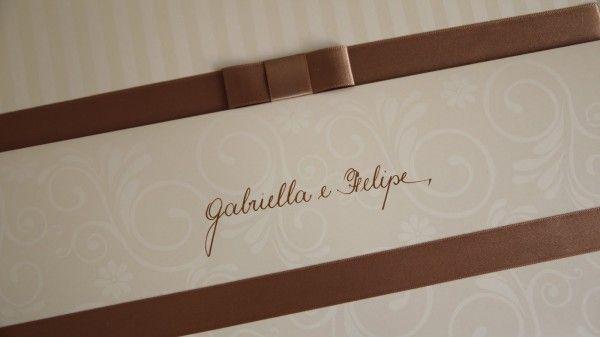 A caligrafia do seu convite