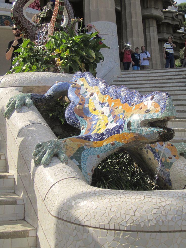 Gaudí's lizard in park Güell Barcelona, Catalonia, Spain