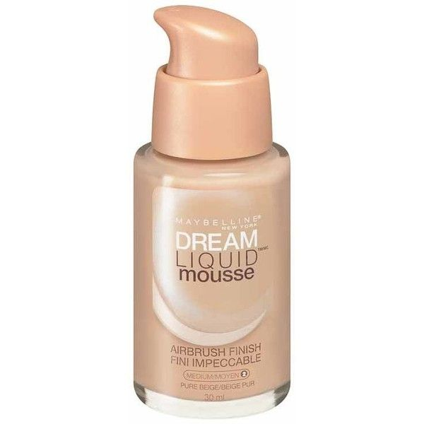 Maybelline Dream Liquid Mousse Foundation Pure Beige ($13) ❤ liked on Polyvore featuring beauty products, makeup, face makeup, foundation, beauty, beauty/makeup, maybelline face makeup, maybelline, maybelline foundation and mousse foundation