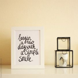 Begin a new day with a simple smile