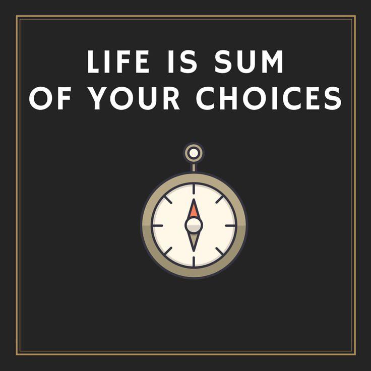 Elämä koostuu pienistä valinnoista. Vaikka valitsisit mielestäsi väärin voit aina valita toisin seuraavalla kerralla, aina. Uusi vuosi, lupaukset, kontrolli ja uusi yritys..löyhempi ote.