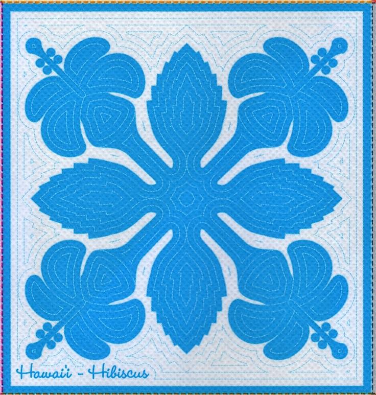 64 best Hawaiian Quilts and instructions images on Pinterest ... : free hawaiian quilt patterns - Adamdwight.com