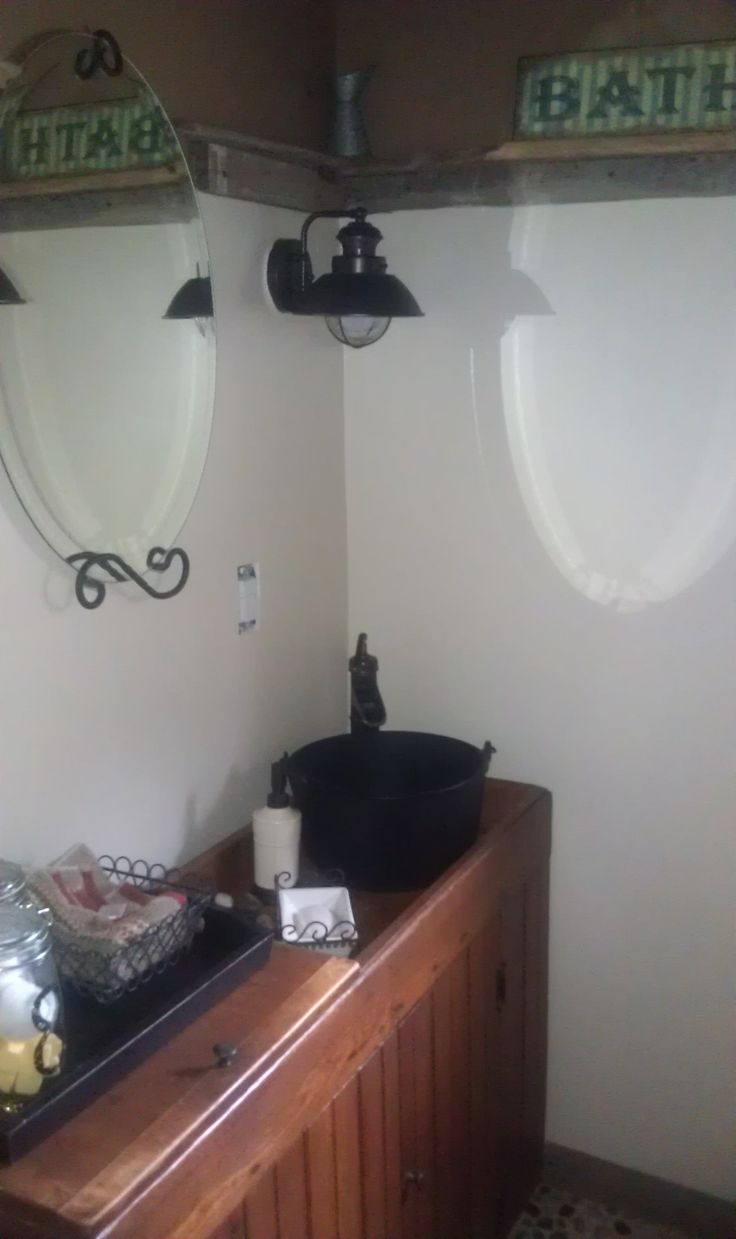 1000 images about cabin bathroom on pinterest old barn for Metal bucket sink