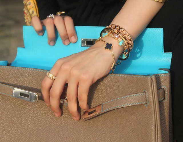 Lovely, unique Van Cleef & Arpels Alhambra Bracelet (among other fab pieces).
