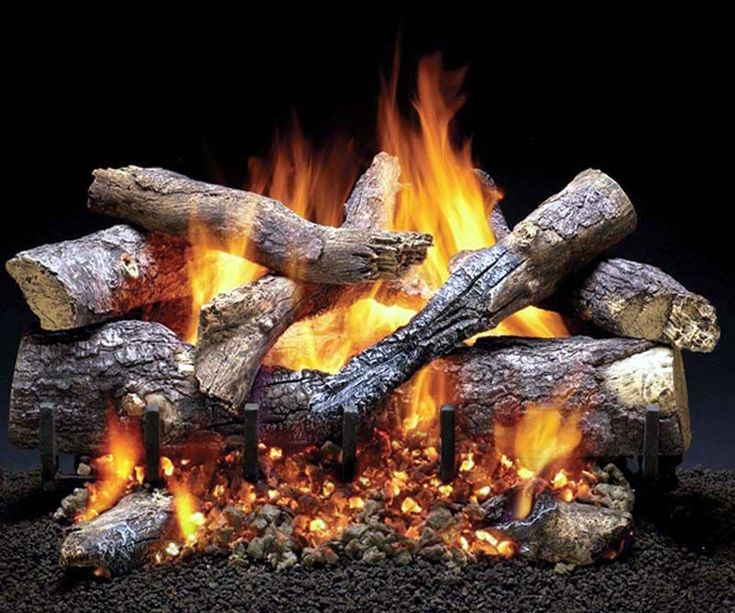 Fake Burning Logs for Fireplace