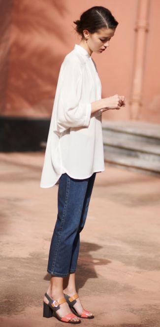 羽織にも1枚でも♪ロングシャツ&シャツワンピースの素敵な着こなし
