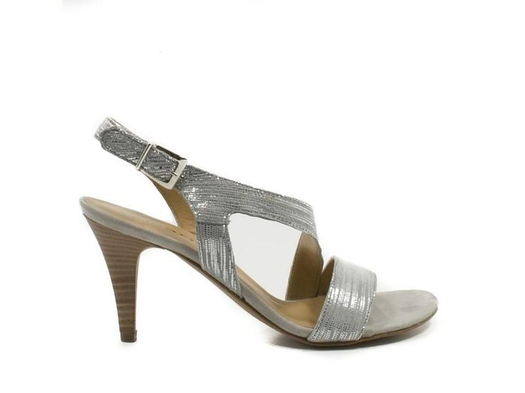 Tamaris Zilveren sandalen leder