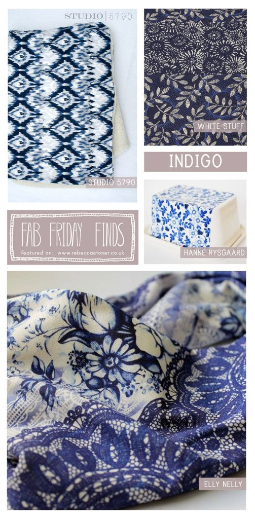 Fab Friday Finds - Week 13 - Indigo - on Rebecca Stoner www.rebeccastoner.co.uk