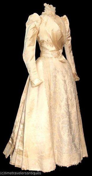 Wedding Dress, by Worth, c 1891