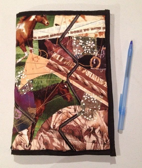 Horse Lovers Quilted Journal Cover by StarBoundHorses on Etsy