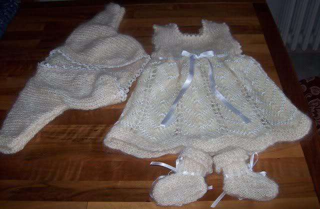 newborn dress and cardigan project on Craftsy.com