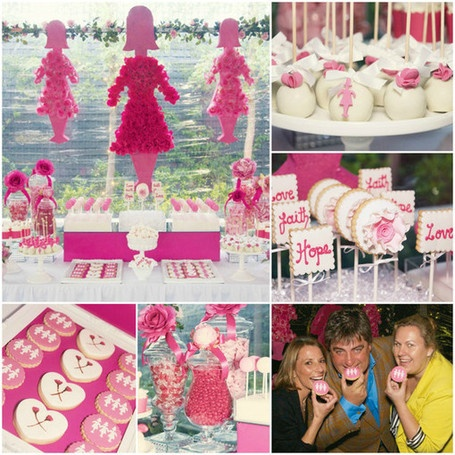 breast cancer awareness dessert table bickiboo party supplies party favors decorations and supplies - Breast Cancer Decorations