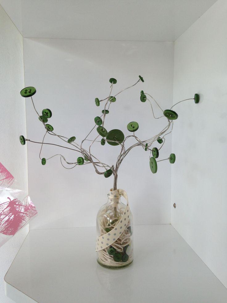 Button Tree, homemade.