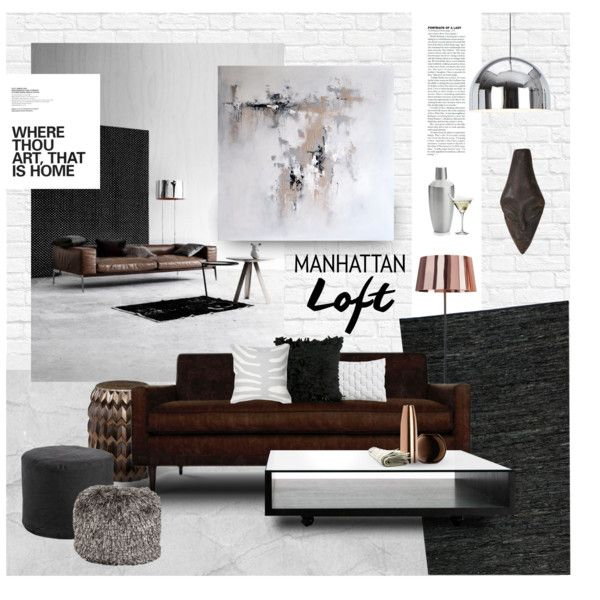 Eclectic Loft By Magdafunk On Polyvore Featuring Interior, Interiors, Interior  Design, д
