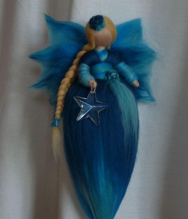 Schutzengel - Schutzengel aus Märchenwolle*Waldorf Art - ein Designerstück von Holzwolle-Spielkunst bei DaWanda