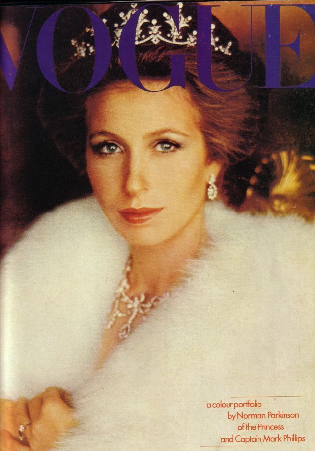 Princess Anne Images    These are images from 1973. I've kept the pictures for years, because I though Princess Anne looked so radiant. This Vogue cover I've photographed looks wonderful framedC20th Royal Fashion History  H.R.H Princess Anne 1973