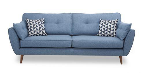Zinc 4 Seater Sofa Zinc   DFS £799.00 NIce shape and back cushions