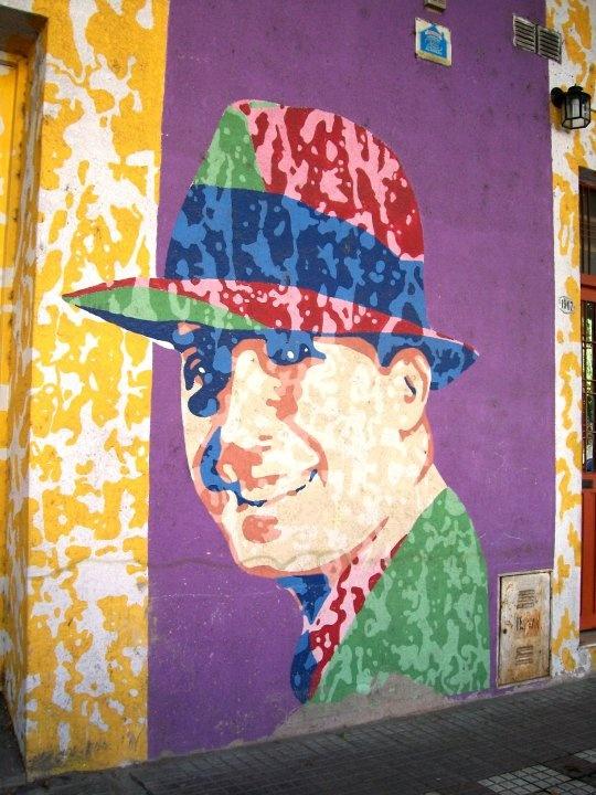 Arte callejero en Buenos Aires, Argentina.