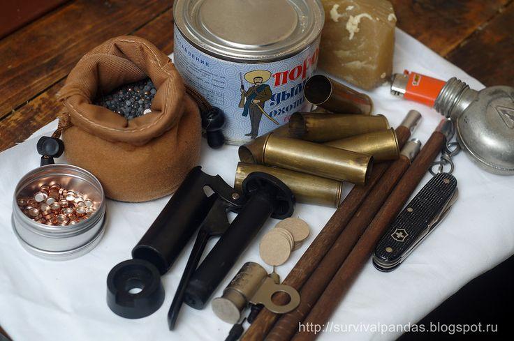 Бушкрафт. Набор для снаряжения патронов и ухода за оружием.    buscraft lmodern longhunter kit