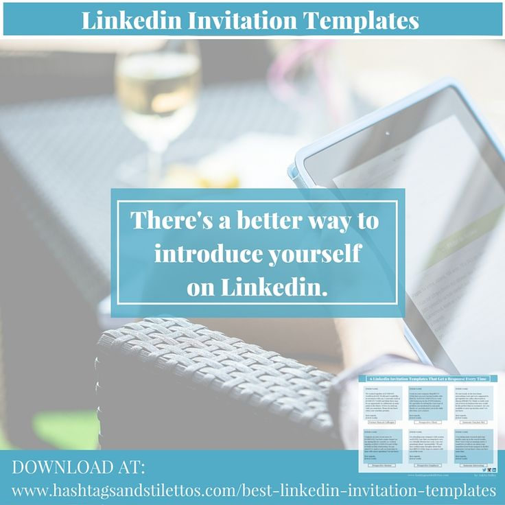6 Linkedin Invitation Templates that Get a Response Every Time - download invitation templates