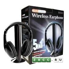 Фото к объявлению «Беспроводные наушники 5 в 1 + FM радио Wireless»