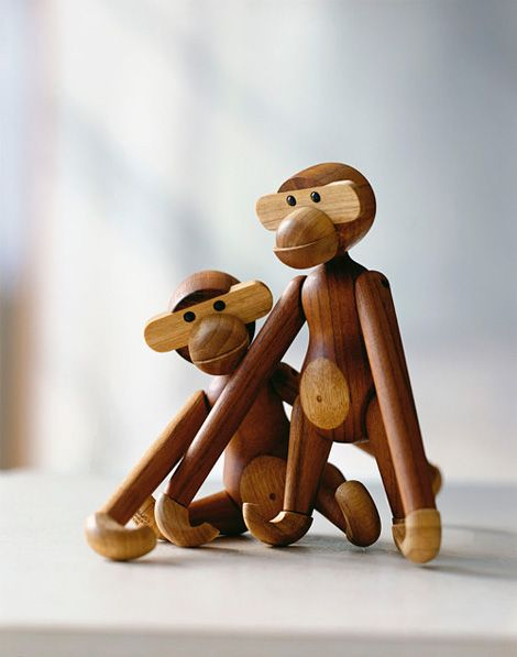 Kay Bojesen: Wooden Toy Monkey Rosendahl  I had one of these 50 years ago...where did it get to?