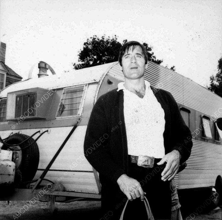 A candid shot of Clint standing outside his trailer.