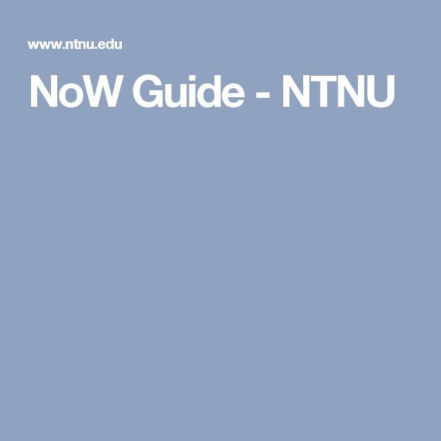 NoW Guide - NTNU